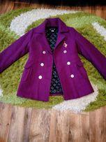 Кашемировое стёганное пальто 46-48 размер