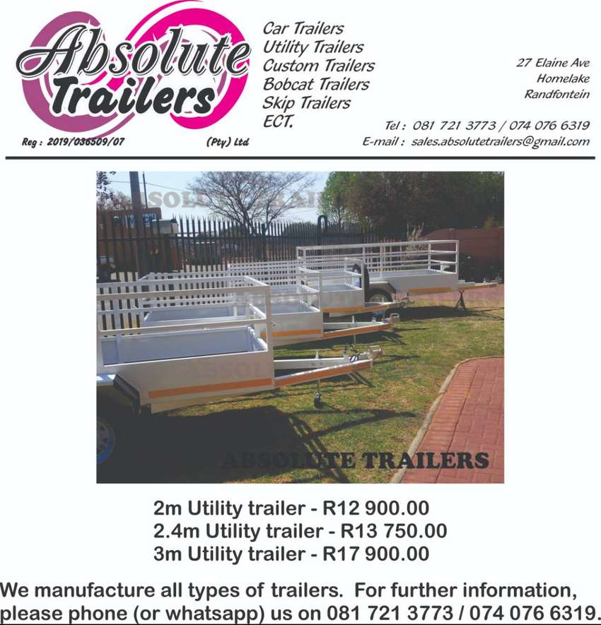 BRAND NEW TRAILERS MANUFACTURED TO YOUR SPECIFICATIONS 0