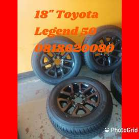 Upgrade to 18'' Toyota Legend 50 mags and tyres now.