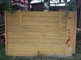 Drzwi garażowe drewniane 2 skrzydłowe