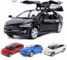 Коллекционная машинка Tesla Model X. Новая, масштаб 1.32