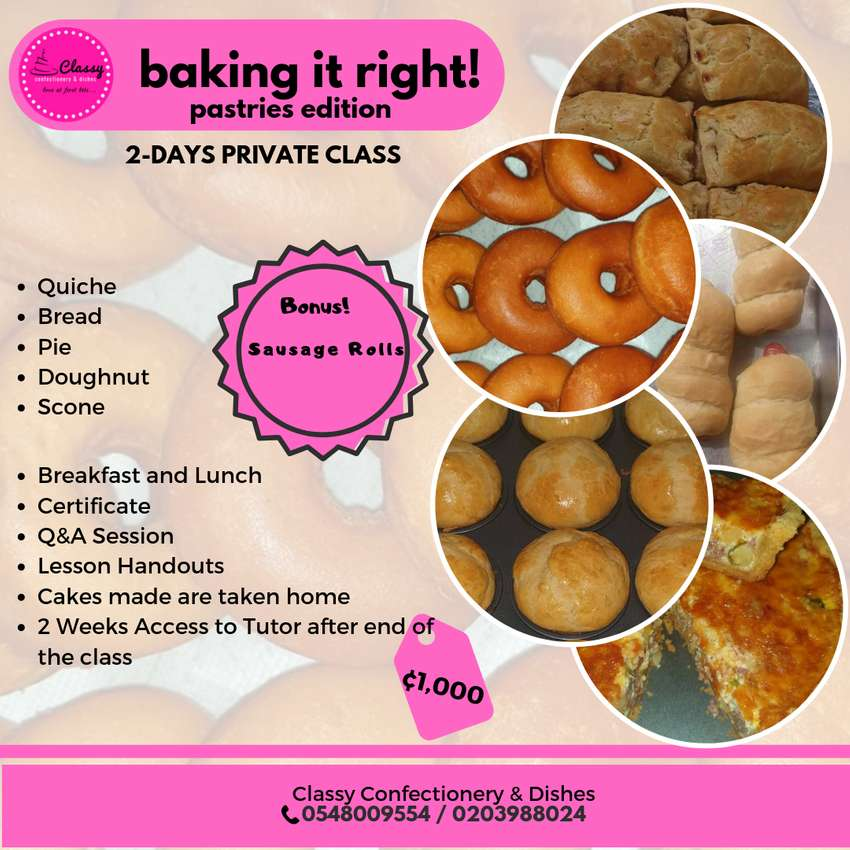 Private Pastries Class! 0