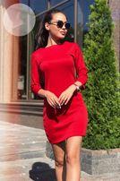 красное платье мини