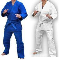 Кімоно кимоно для дзюдо джиу джитсу айкидо белое синее кімано кимано
