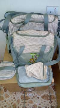 Water resistance mothers diaper bag 5 in 1 0