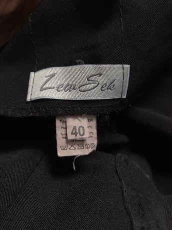 Eleganckie czarne spodnie ciążowe 40 L LewSek jak nowe szerokie Wrocław - image 4