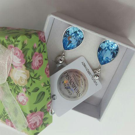 Swarovski серьги сережки капельки капли подарок девушке для девушки Киев - изображение 2