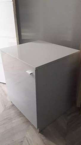 Custom  made  High gloss grey cupboard