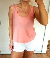 TopShop pudrowa bluzka różowa baby pink s 36 insta wykończenie hit