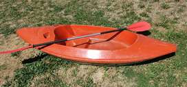 Canoe with new paddles