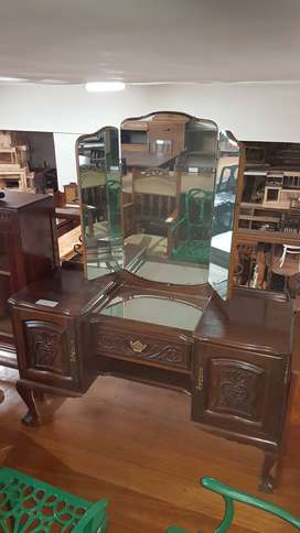 Imbuia Carved Dressing Table