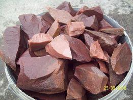 камень для саун кварцит малиновый в мешках 20кг