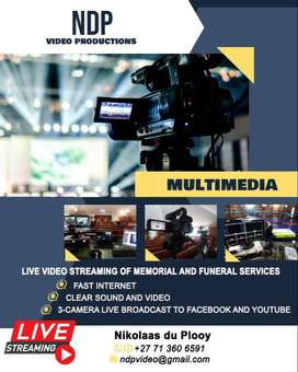 LIVE VIDEO STREAMING OF MEMORIAL AND FUNERAL SERVICES