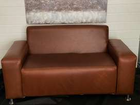 Full leather 2 seater couches