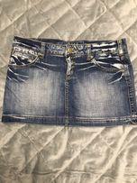Spódnica jeansowa mini Fishbone