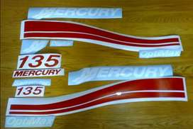 Mercury 135 outboard motor cowl stickers decals vinyl cut graphics