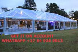 FRAME TENTS HEAVY DUTY STEEL STRUCTURED FRAMES INCLUDES ALL RIGGING EQ