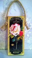 панно роза, цветущая арка , ручная работа , декупаж