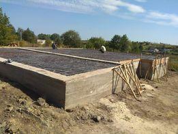 Фундаменти стрічкові та фундаментна бетонна стяжка Львів