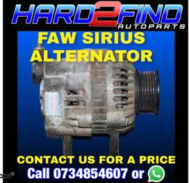 FAW SIRIUS ALTERNATOR  CONTACT US FOR A PRICE