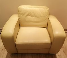Fotel skórzany ze skóry naturalnej, duży, elegancki, bardzo wygodny