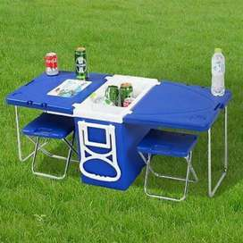 Rolling Cooler Picnic Table #ABC