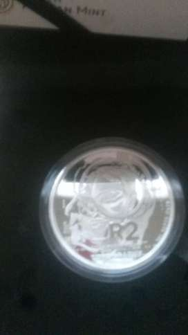 Tomography proof R2  silver coin