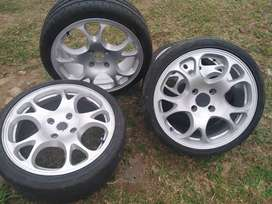 Mag rims with 75% life tires