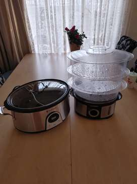 Slow cooker and steamer