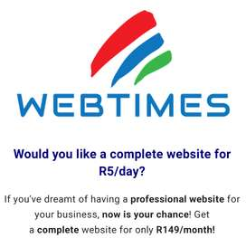 Website from as little as R5/day