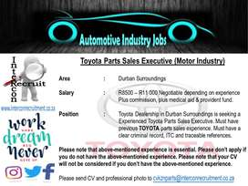 Toyota Parts Sales Executive (Motor Industry)-Durban Surroundings