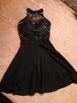 Śliczna czarna sukienka urodziny wesele