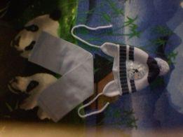 Шапка и шарф. Зима. Комплект.