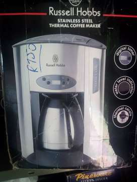 Thermo coffee machine in stainless steel