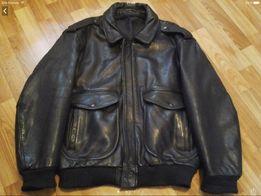 Куртка кожаная мужская Пилот-бомбер ( Германия ).