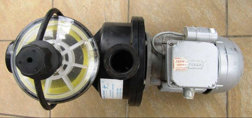 Swimming Pool Pump Motor - Femco 0.75kW with attachments 0