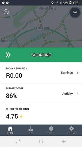 Taxify driver available in germiston