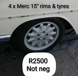 """15"""" MERCEDES rims and tyres"""