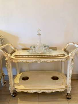 Lo Stile Di Classe Service Trolley with Crystal Top