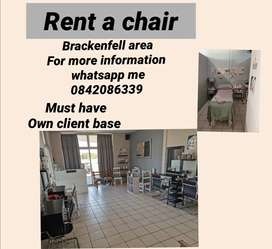 Rent a chair for hairdresser