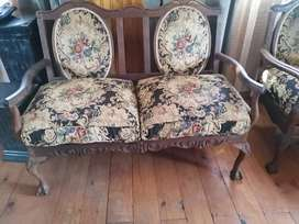 Antique Ball and Claw Lounge Suite