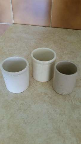 3 Antique Containers R30Ea