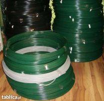 Drut naciągowy ocynkowany powlekany fi2,5/3,8 zielony-100mb. Siatka
