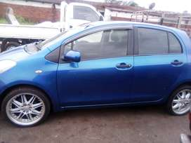 Toyota Yaris hatchback , 2010 model , Blue in colour and very neat