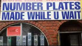 Number plates made while u wait