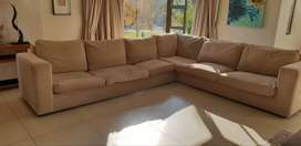 Neutral Toned L-Shaped Sofa