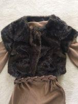 Futerko MANGO H&M rozmiar M bolerko kamizelka sweter futro ZARA