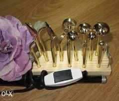 Бульки-инструмент для цветов из ткани и кожи.Японские пяточки.