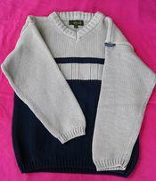 TIMBERLAND sweterek chłopięcy na 6 lat.Dekolt w szpic/serek.Bawełna.
