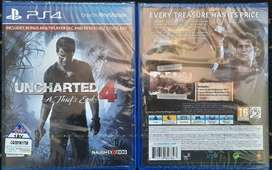 PS4 Uncharted 4: A Thief's End - Std+Ed (Brand New Still sealed)
